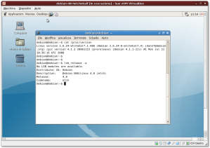 Debian 4.0r4 in VirtualBox