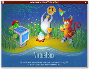 informazioni su VirtualBox 1.6.4 OSE