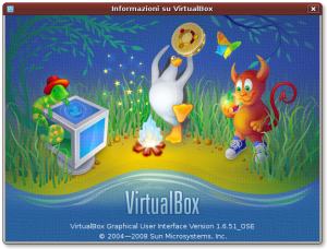 Info su VirtualBox 1.6.51 OSE