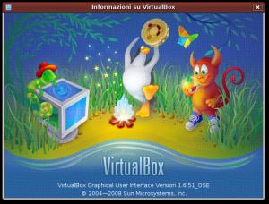 Info su VirtualBox 1.6.51 OSE